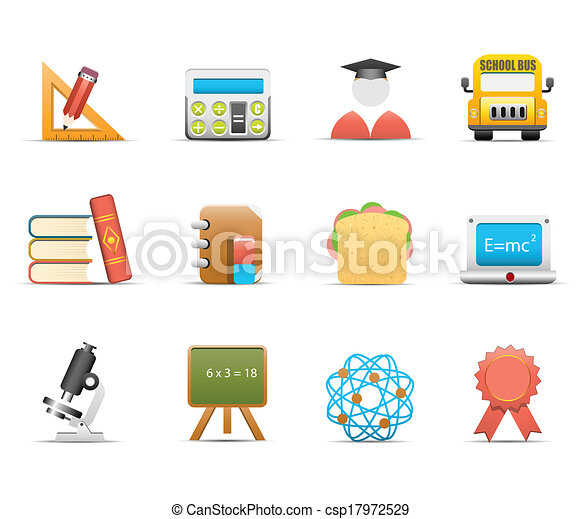 School and education icons - csp17972529