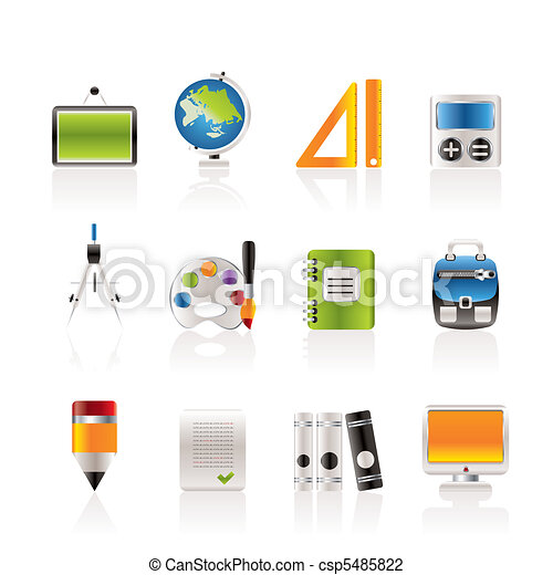 School and education icons - csp5485822