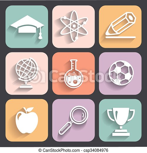 School and Education Icons - csp34084976