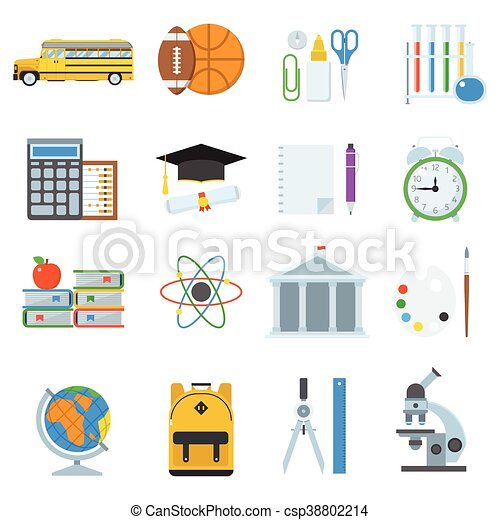 School and Education Icons - csp38802214
