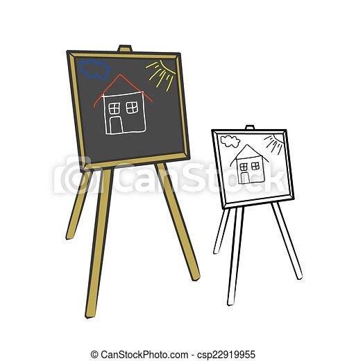 School blackboard - csp22919955