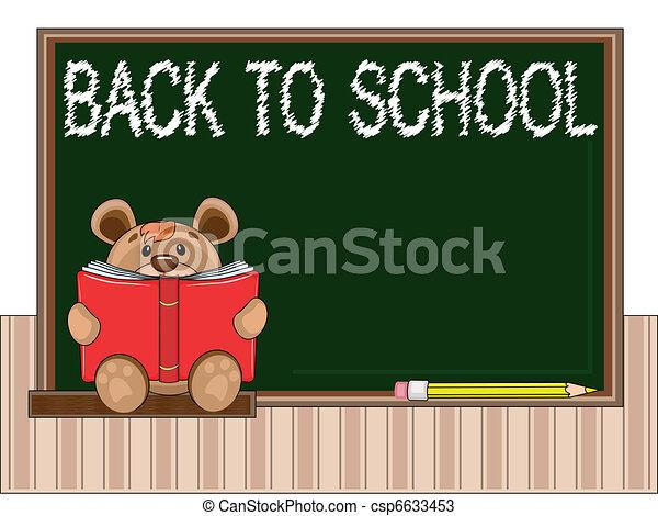 School blackboard - csp6633453