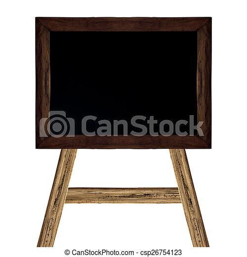 School blackboard on white - csp26754123