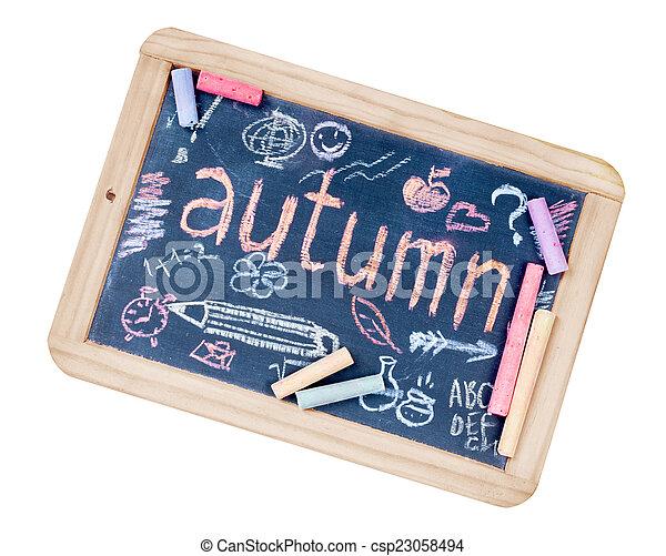 School blackboard on white - csp23058494