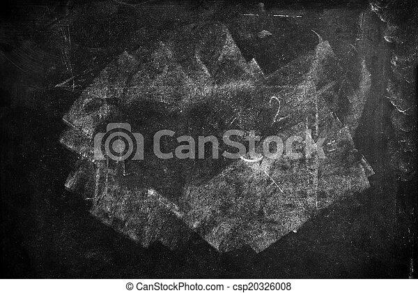 School blackboard texture as education background - csp20326008