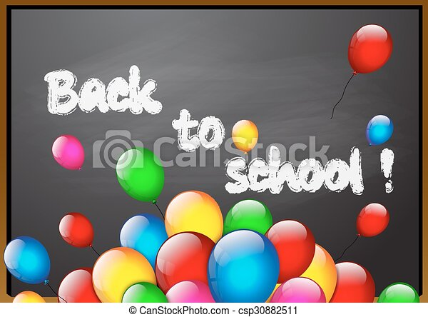 School blackboard - csp30882511
