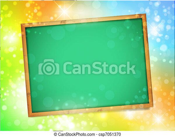school blackboard - csp7051370