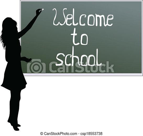 School board - welcome to school - csp18553738