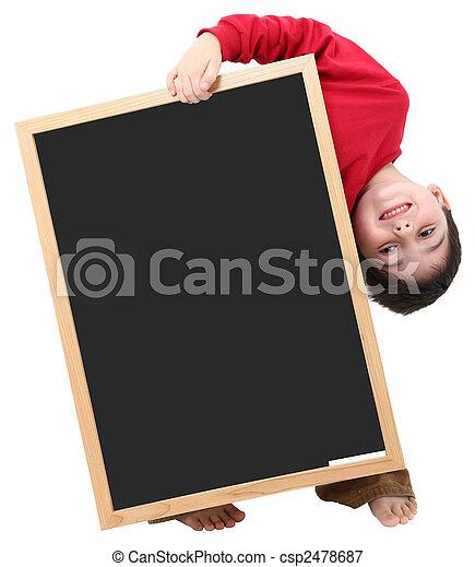 School Boy Blank Sign - csp2478687