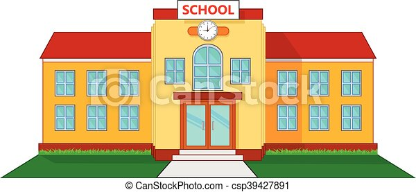 School building cartoon - csp39427891