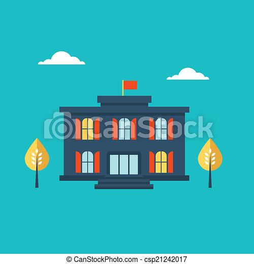 School building icon - csp21242017