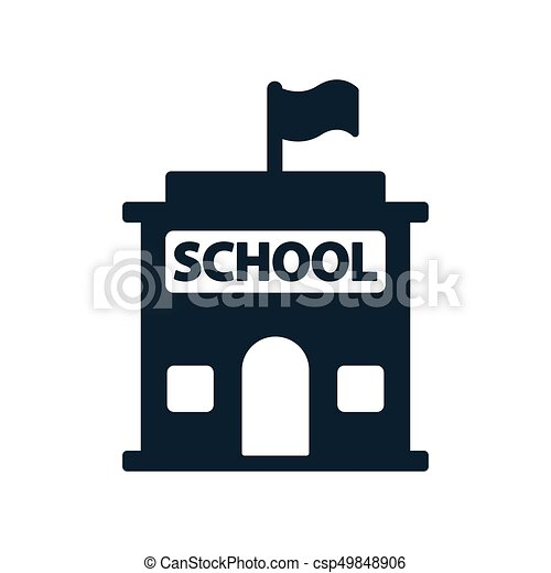 simple black school building icon on white background school building clipart black and white school building clipart png