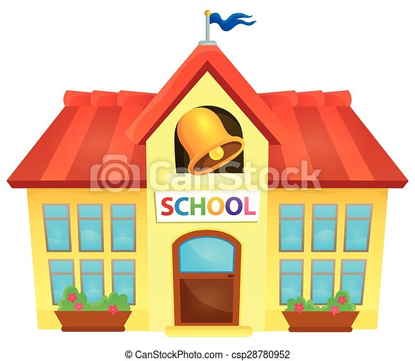 school building theme image 1 eps10 vector illustration rh canstockphoto com clipart of school buildings free clipart school building