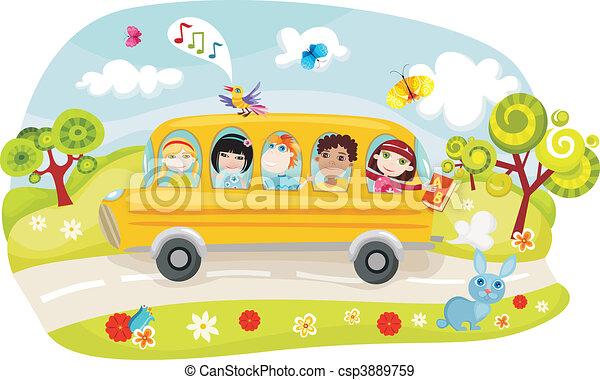 school bus - csp3889759