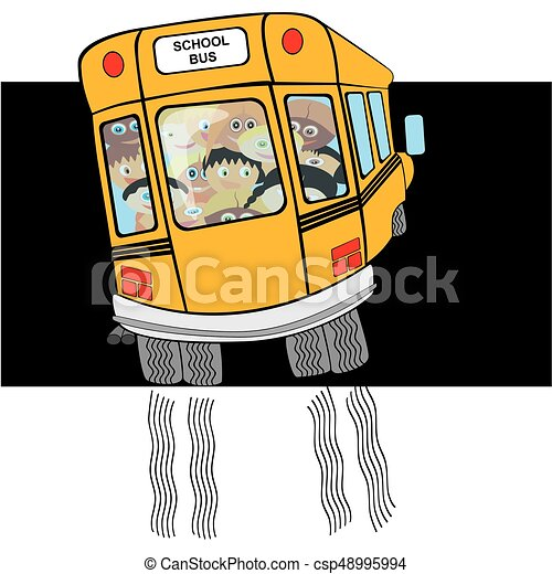 school bus from back side students going home or on trip back to rh canstockphoto com Military Going Home Arriving Bus Home