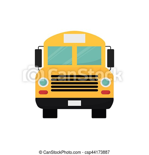 school bus front view icon vector illustration graphic vector rh canstockphoto com  school bus front clipart