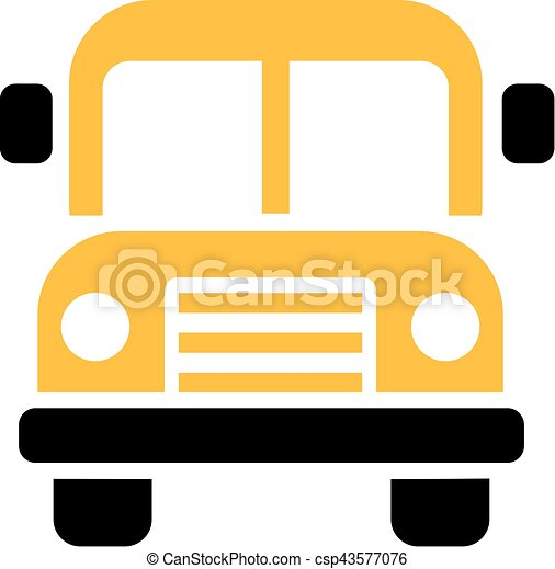 school bus icon front view rh canstockphoto ca  school bus front clipart