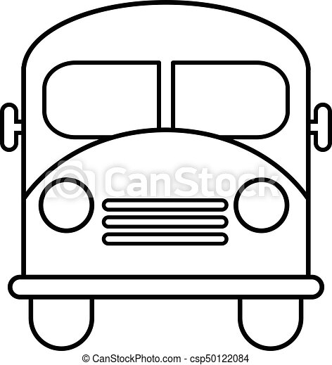 school bus icon outline line style school bus icon outline rh canstockphoto com