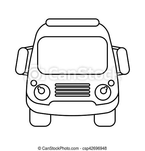 school bus student transport outline vector ilustration eps eps rh canstockphoto com