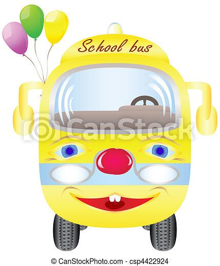 School bus with balloons - csp4422924