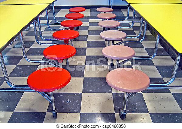 School Cafeteria Seats - csp0460358
