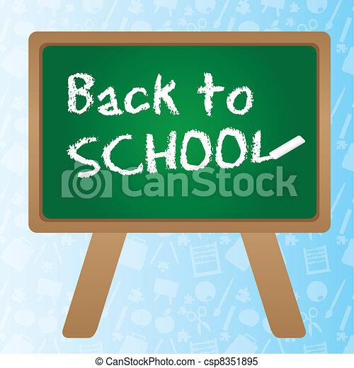 School chalkboard - csp8351895