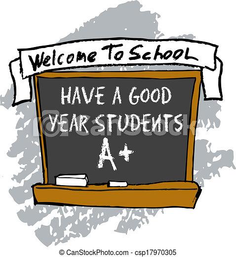 School Chalkboard - csp17970305