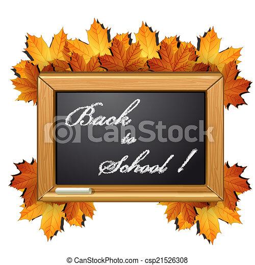 School chalkboard - csp21526308