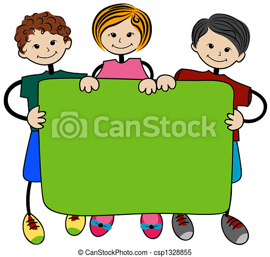school children with blank board stock illustrations search rh canstockphoto com
