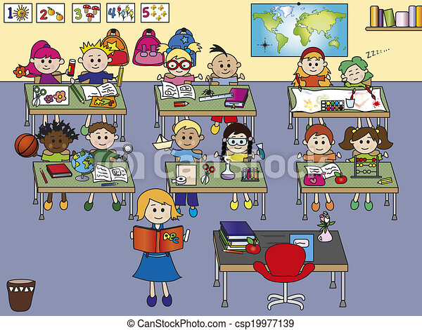 school classroom with children and teacher drawings search clipart rh canstockphoto com classroom clip art free images classroom clipart images