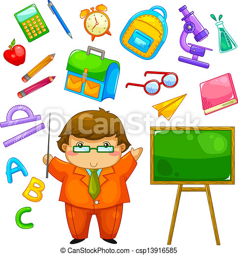 school collection - csp13916585
