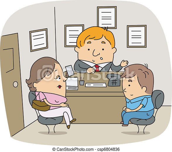 illustration of a school counselor at work rh canstockphoto com School Counselor Signs School Counselor Graphics