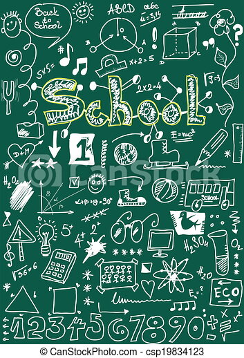 School Doodle texture - csp19834123
