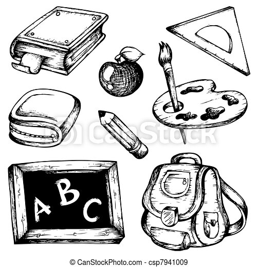School drawings collection 1 - csp7941009