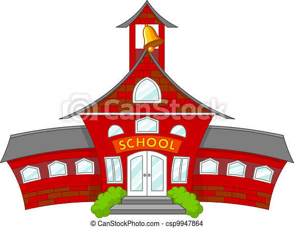 illustration of cartoon school building eps vector search clip art rh canstockphoto com school building clipart png clipart school building black and white