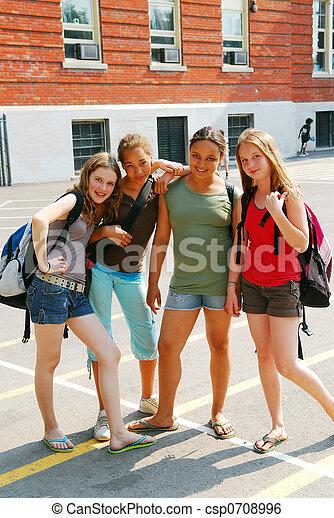 School girls - csp0708996
