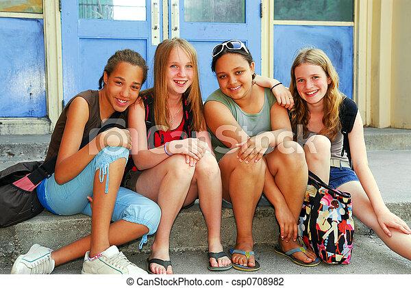 School girls - csp0708982