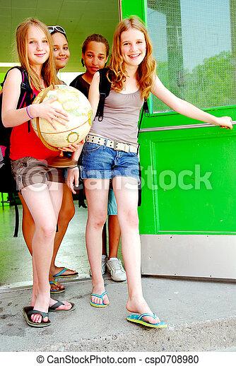 School girls - csp0708980