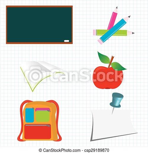 school icons - csp29189870