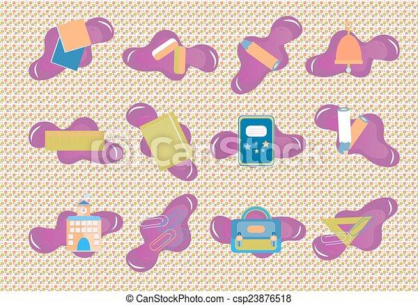 School icons  - csp23876518