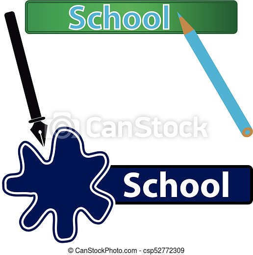 school label with pen and crayon vector illustration vector rh canstockphoto com crayon vector free crayon vector free