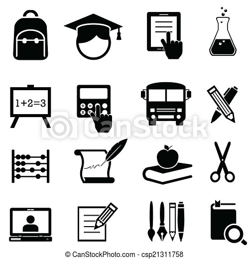 School, learning and education icons - csp21311758