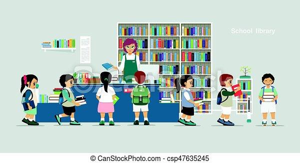 School library - csp47635245