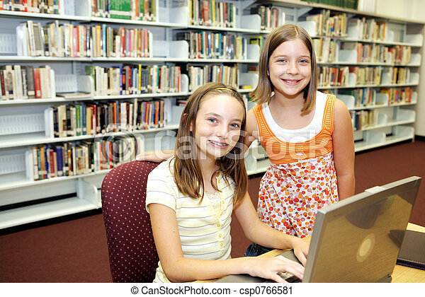 School Library - Technology in Class - csp0766581