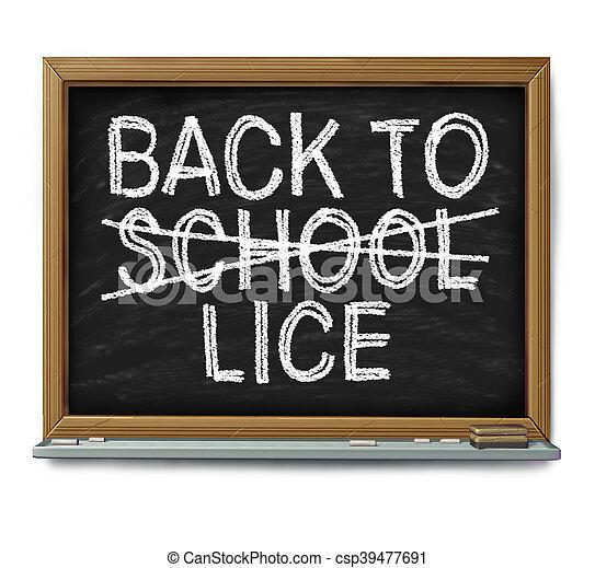 School Lice Problem - csp39477691