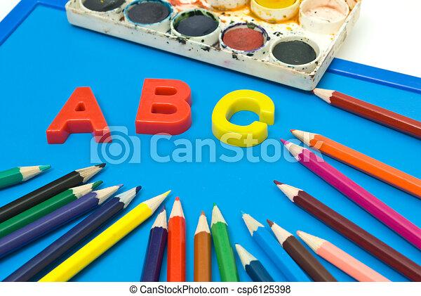 School objects - csp6125398
