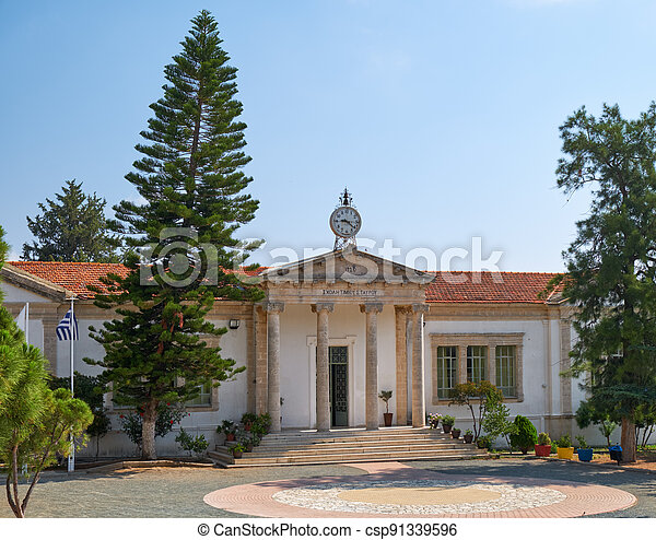 School of Timios Stavros. Pano Lefkara. Larnaca District. Cyprus - csp91339596