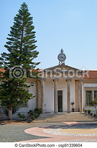 School of Timios Stavros. Pano Lefkara. Larnaca District. Cyprus - csp91339604