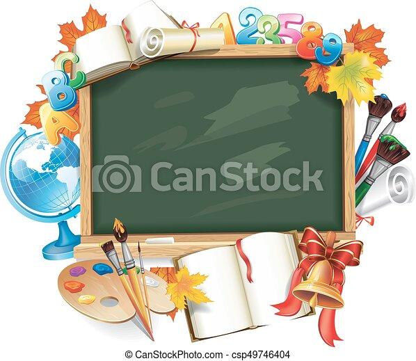 school, ontwerp, back, mal - csp49746404