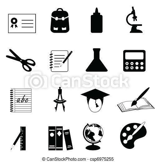 school, opleiding, iconen - csp6975255